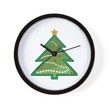 Christmas Tree Wall Clock