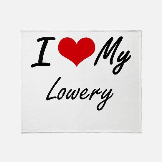 I Love My Lowery Throw Blanket