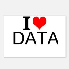 I Love Data Postcards (Package of 8)