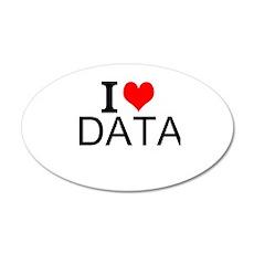 I Love Data Wall Decal