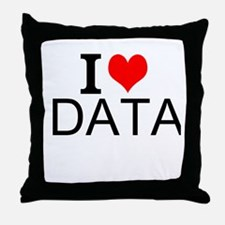 I Love Data Throw Pillow