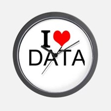 I Love Data Wall Clock