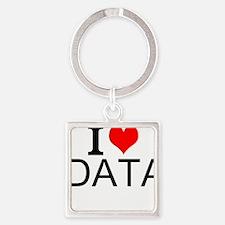 I Love Data Keychains
