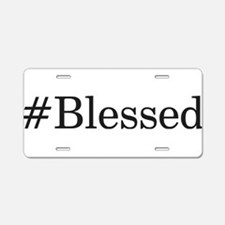 Cute Blessed be Aluminum License Plate