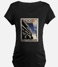 Vintage poster - Nord Express Maternity T-Shirt