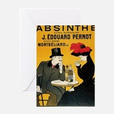Cool Vintage champagne Greeting Card