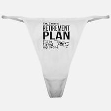 Drone Retirement Plan Classic Thong
