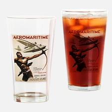 Vintage poster - Aeromaritime Drinking Glass