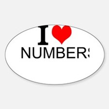 I Love Numbers Decal