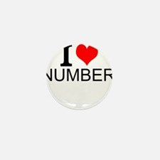 I Love Numbers Mini Button (10 pack)