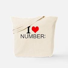I Love Numbers Tote Bag