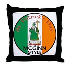 Mcginn, St. Patrick's Day Throw Pillow