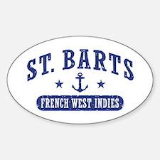 St. Barts Sticker (Oval)