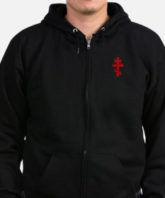 Russian Cross Zip Hoodie (dark)