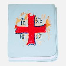 Greek Cross IC XC NIKA baby blanket