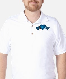Blue Hearts Golf Shirt