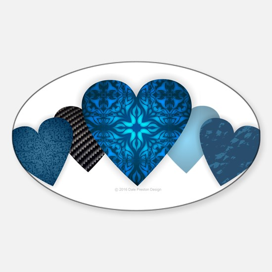 Blue Hearts Decal