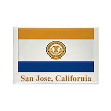 San Jose CA Flag Rectangle Magnet