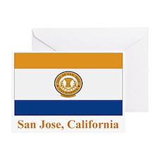 San Jose CA Flag Greeting Card