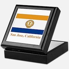 San Jose CA Flag Keepsake Box