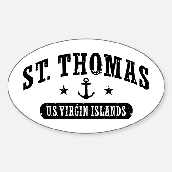 St. Thomas Sticker (Oval)