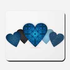 Blue Hearts Mousepad