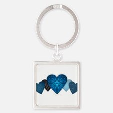 Blue Hearts Keychains