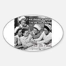 Cool Advice nurse Sticker (Oval)