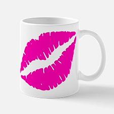 Sexy Pink Lips Kiss Mugs