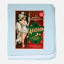 Vintage poster - Aladdin Jr. baby blanket