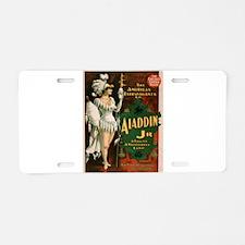 Vintage poster - Aladdin Jr Aluminum License Plate