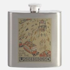 Vintage poster - London Underground Flask