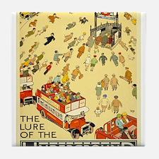 Vintage poster - London Underground Tile Coaster