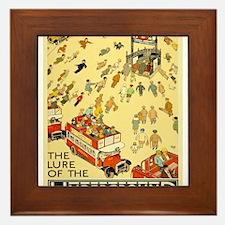 Vintage poster - London Underground Framed Tile