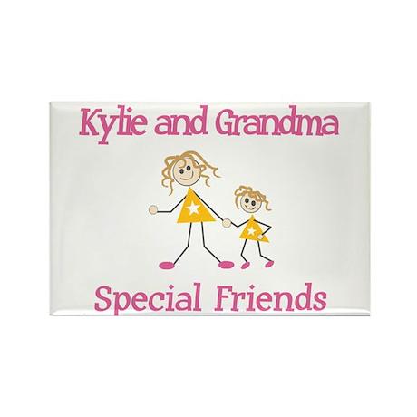 Kylie & Grandma - Friends Rectangle Magnet (100 pa