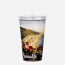 Vintage poster - Amalf Acrylic Double-wall Tumbler