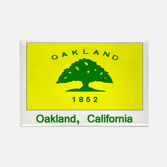 Oakland CA Flag Rectangle Magnet