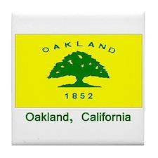 Oakland CA Flag Tile Coaster