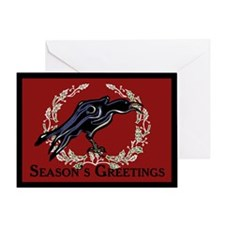 Christmas Crow Greeting Card