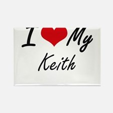 I Love My Keith Magnets
