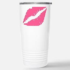 Pink Lips Kiss Stainless Steel Travel Mug