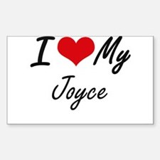 I Love My Joyce Decal