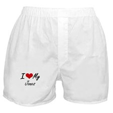 I Love My Jones Boxer Shorts