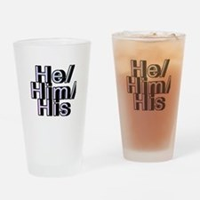 He/Him/His Drinking Glass