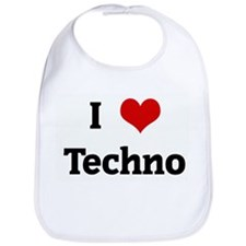 I Love Techno Bib