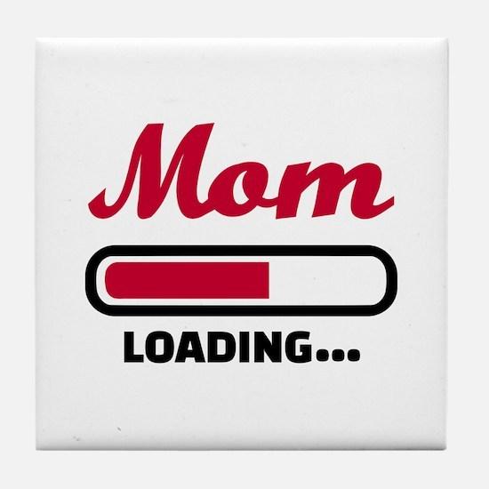 Mom loading Tile Coaster