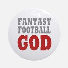 Fantasy Football God Ornament (Round)