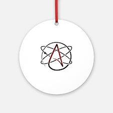 Modern Atheist Atomic Color Round Ornament