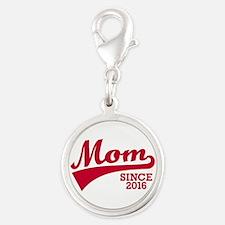 Mom 2016 Silver Round Charm