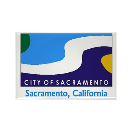 Sacramento CA Flag Rectangle Magnet (100 pack)